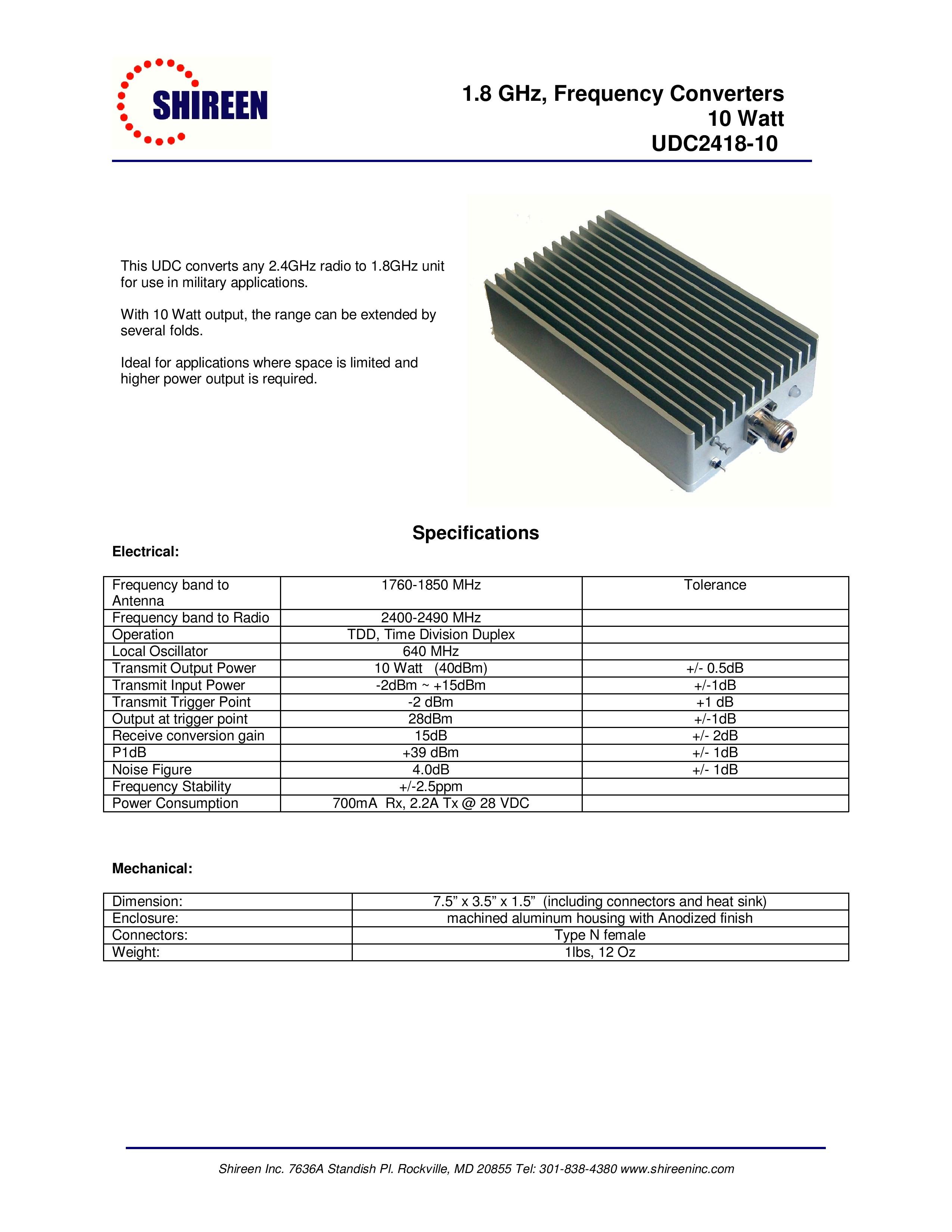 2.4GHz to 1.8GHz converter 10W