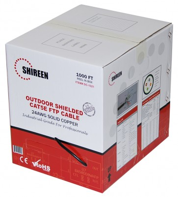 DC-1021 - Outdoor CAT5e FTP - Shielded - 1000ft Spool