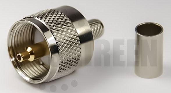 Pl259 Male Straight Solder Amp Crimp Type Connector For Rg58