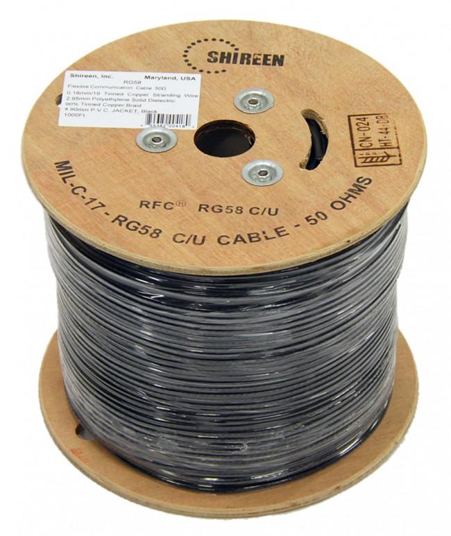 Rg58 Flexible Rf Coax Cable 1000 Ft Spool