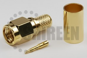 SMA Male Straight Connector For RG58 / RG142 / RG223 / RG400 / LMR195 / RFC195 cables