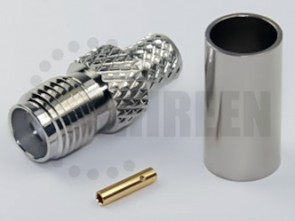 SMA Female Connector (Nickel) for RG58 / RG142 / RG223 / RG400 / LMR195 / RFC195 cables