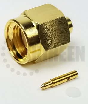SMA Male Connector For .085 Semi-Rigid