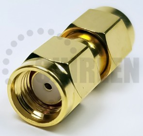 SMA Male Reverse Polarity to SMA Male Reverse Polarity Adapter