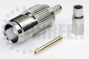 TNC Female Straight Connector For RG316 / RG174A-U / LMR100A / RFC100A cables