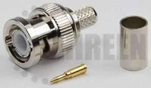 BNC Male Connector for RG8x / LMR240 / LMR240UF / RFC240 / RFC240UF cables