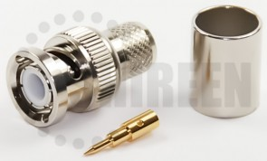 BNC Male Connector for RG8U / RG213 / LMR400 / LMR400UF / RFC400 / RFC400DB / RFC400UF cables