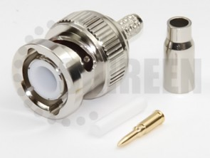 BNC Male Connector for RG316 / RG174A-U / LMR100A / RFC100A cables
