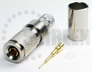 DIN 1.0/2.3 Male Connector For RG8x / LMR240 / LMR240UF / RFC240 / RFC240UF cables