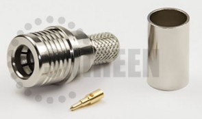 QMA Male Straight Connector For RG58 / RG142 / RG223 / RG400 / LMR195 / RFC195 cables