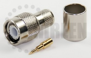Reverse Threaded TNC Male Connector For RG8U / RG213 / LMR400 / LMR400UF / RFC400 / RFC400DB / RFC400UF cables