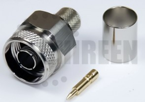 Type N Male Connector For RG8U / RG213 / LMR400 / LMR400UF / RFC400 / RFC400DB / RFC400UF cables
