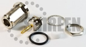 Type N Female BulkHead for RG402 / .141 Cable
