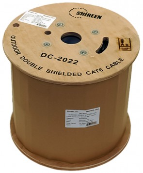 DC-2022 - Outdoor CAT6 Double Shielded FTP - 1000ft Spool