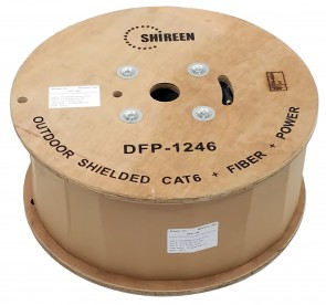 DFP-1246 - Data, Fiber & Power Composite Cable - 500ft Spool