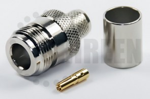Reverse Threaded Type N Female Connector For RG8U / RG213 / LMR400 / LMR400UF / RFC400 / RFC400DB / RFC400UF cables