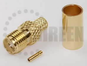 SMA Female Connector for RG58 / RG142 / RG223 / RG400 / LMR195 / RFC195 cables
