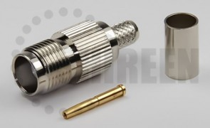 TNC Female Connector For RG8x / LMR240 / LMR240UF / RFC240 / RFC240UF cables