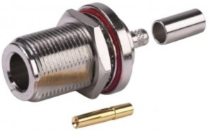 Type N Female Bulkhead Connector for 1mm Cable